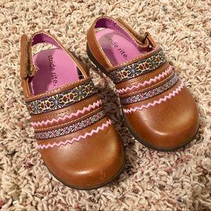 Stride Rite Girls Toddler 8M Nicky Clog Sandals